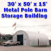 51' x 90' x 17' Steel Quonset Hay & Grain Storage Building