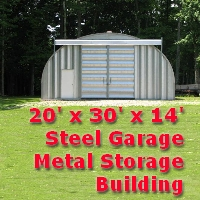 20' x 30' x 14' Steel Metal Garage Workshop Storage Building