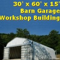 30' x 60' x 15' Residential Garage Storage Building Kit
