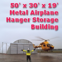 50' x 30' x 19' Metal Frame Airplane Hanger Storage Building