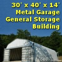 30' x 40' x 14' Metal Garage General Storage Building
