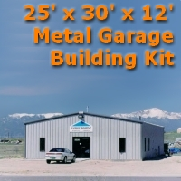 25' x 30' x 12' Metal Garage Building Kit