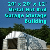 20' x 20' x 12' Metal Hot Rod Garage Storage Building