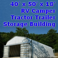 40' x 50' x 18' Metal RV Camper Tractor Trailer Storage Building