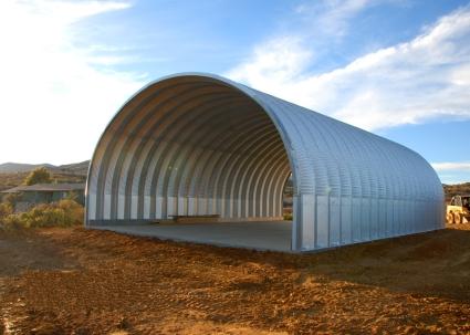 30 39 x 30 39 x 14 39 prefab metal arch cover garage storage for Prefab building costs