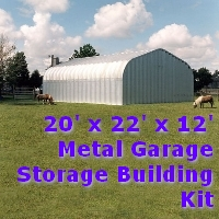 20' x 22' x 12' Metal Garage Storage Building Kit