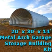 20' x 30' x 14' Prefab Metal Arch Cover Garage Storage Building