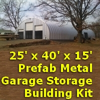 25 39 x 40 39 x 14 39 prefab metal garage storage building kit