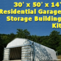 30' x 50' x 14' Residential Garage Storage Building Kit