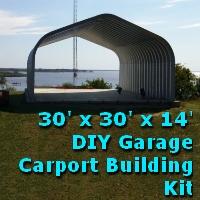 30' x 30' x 14' DIY Garage Carport Shelter Building Kit