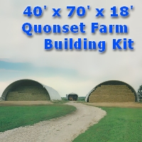 40' x 70' x 18' Steel Quonset Farm Storage Building Kit