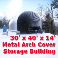 30' x 40' x 14' Prefab Metal Arch Cover Garage Storage Building