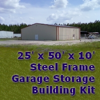 30' x 60' x 14' Steel Frame Prefab Metal Barn Storage Building
