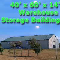 40' x 60' x 14' Steel Frame Tractor Garage Factory Warehouse Commercial Storage Building