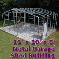 12' x 20' x 8' Steel Frame Shed Garage Building Kit