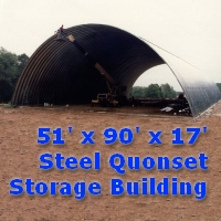 51' x 90' x 17' Steel Quonset Hay & Grain Storage Building