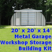 20' x 20' x 14' Steel Metal Storage Garage Workshop Building