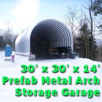 30' x 30' x 14' Prefab Metal Arch Cover Garage Storage Building
