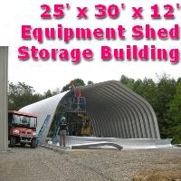 25' x 30' x 12' Steel Frame Gambrel Arch Equipment Storage Building