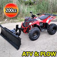 Commander 200cc ATV Automatic w/Reverse 4 Stroke Apollo Series ATV With Plow - CALI LEGAL