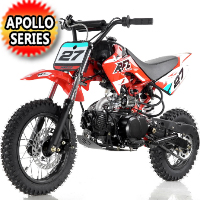 Apollo 110cc Dirt Bike 4-Speed Semi Auto w/Kick Start - DB-27 110cc