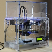 Brand New D4X 3D Printer - Transparent Case