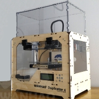 Brand New D4X 3D Printer - Woodframe Case