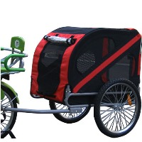 Pet Dog Bike Trailer (Red & Black)