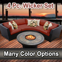 Brand New Beach 4 Piece Outdoor Wicker Patio