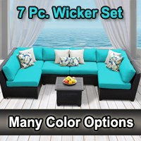 Beach 7 Piece Outdoor Wicker Patio