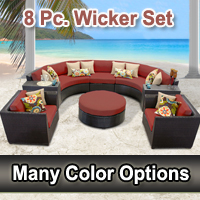 Beach 8 Piece Outdoor Wicker Patio