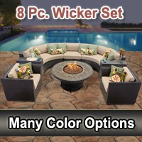 Brand New 2015 Beach 8 Piece Outdoor Wicker Patio