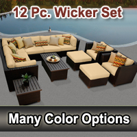 Brand New 2015 Beach 12 Piece Outdoor Wicker Patio