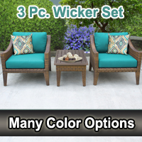 Modern 3 Piece Outdoor Wicker Patio Furniture Set