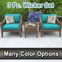 Modern 3 Piece Outdoor Wicker Patio Furniture Set