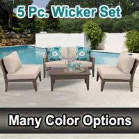 Modern 5 Piece Outdoor Wicker Patio Furniture Set