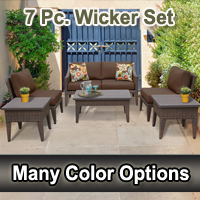 2015 Modern 7 Piece Outdoor Wicker Patio Furniture Set