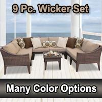2015 Modern 9 Piece Outdoor Wicker Patio Furniture Set
