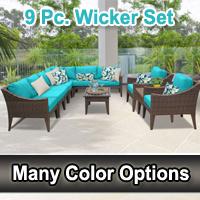 Modern 11 Piece Outdoor Wicker Patio Furniture Set