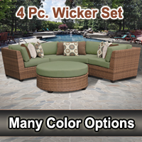 Toscano 4 Piece Outdoor Wicker Patio Furniture Set