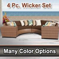 Toscano 4 Piece Outdoor Wicker Patio Furniture Set