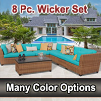 Toscano 8 Piece Outdoor Wicker Patio Furniture Set