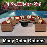 Toscano 8 Piece Outdoor Wicker Patio Furniture Set
