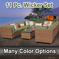 2015 Toscano 11 Piece Outdoor Wicker Patio Furniture Set