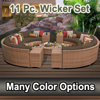 Toscano 11 Piece Outdoor Wicker Patio Furniture Set