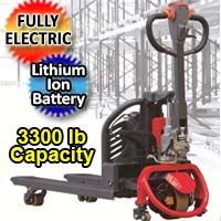 Electric Powered Pallet Jack - Lithium Ion Motorized 3,000 lb. Capacity Pallet Truck - AW15Li