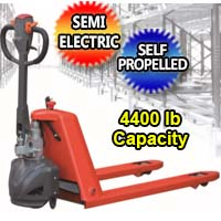 Semi Electric Pallet Jack Hand Truck 4,400 lb. Capacity - EPT-20K