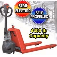 Semi Electric Pallet Jack Hand Truck 4,400 lb. Capacity - EPT-20K