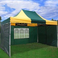 High Quality 10x15 Green - Yellow Pop Up Canopy Party Tent