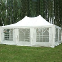 23 x16.5 Rectangle Wedding Party Gazebo Tent Canopy White